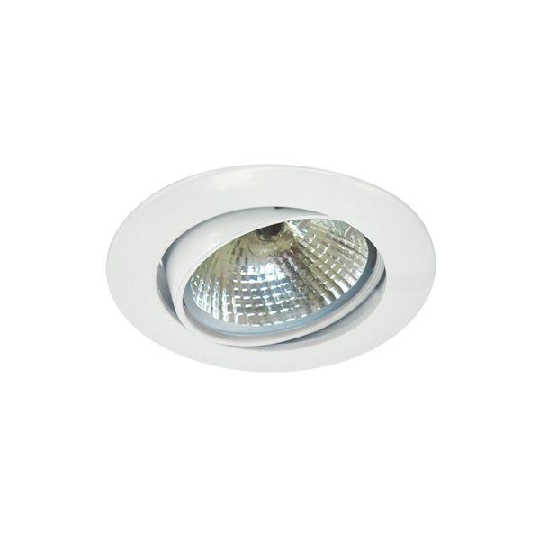 CLE Halogen Downlight Einbauleuchte 3830 50W weiss D:85 mm