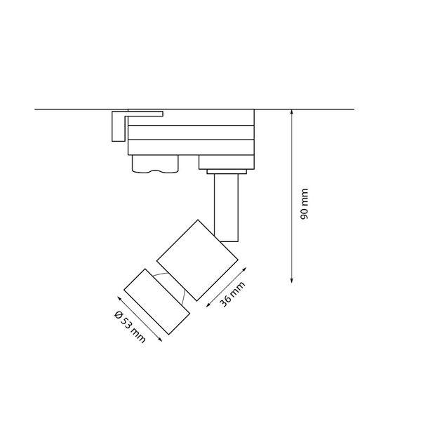 CLE LED PURI GU10 weiß inkl. 3-Phasen-Adapter und Master Power LEDspot 6W dimmbar – Bild 3