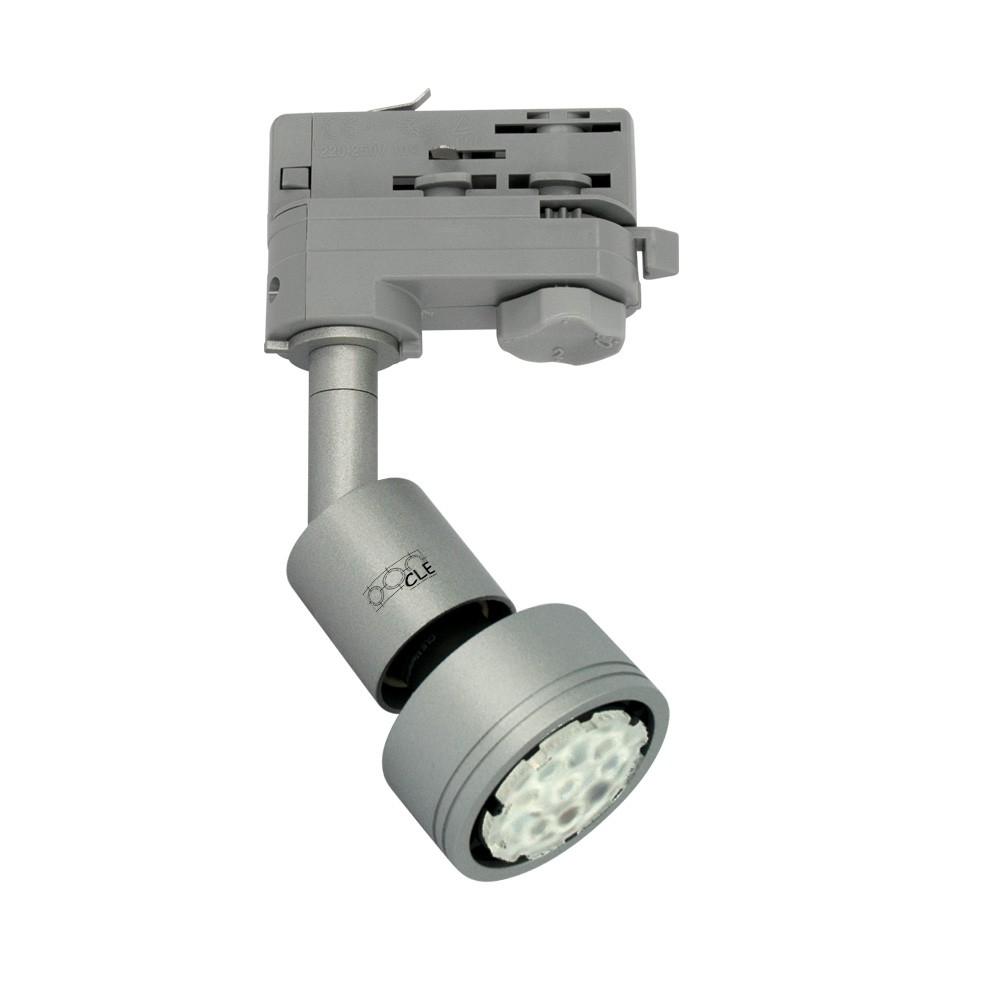 CLE LED PURI GU10 alugrau inkl. 3-Phasen-Adapter und LEDspot 5W dimmbar