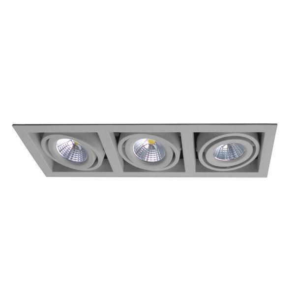 CLE LED Kardan Einbauleuchte YK3-HV alugrau 3x 6,5W warmweiß 230V
