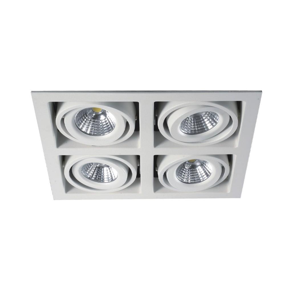 CLE LED Kardan Einbauleuchte YK4-HV weiß 4x 6,5W warmweiß 230V