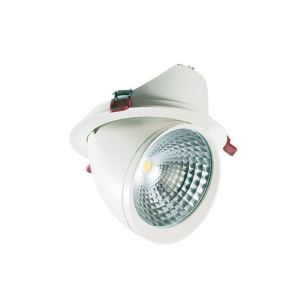 CLE LED YK Einbauleuchte rund 35W warmweiß 3300LM weiss schwenkbar
