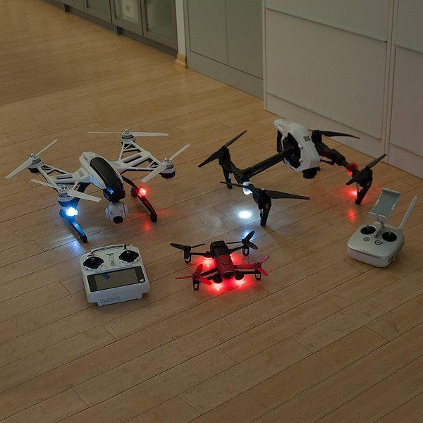 DS24 LED Positionslicht Rot für Drohnen 11cm lang super hell Quadrocopter Sicherheitslicht Zubehör Erweiterung – Bild 5