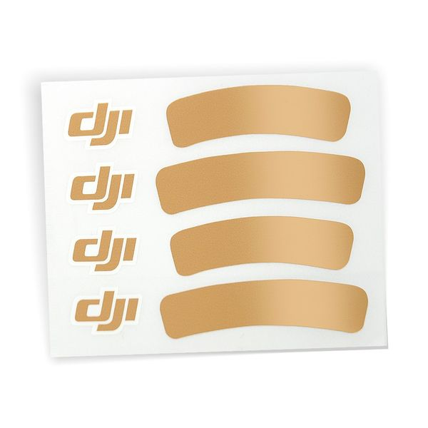 DJI Sticker Aufkleber Gold für DJI Phantom 3 III Quadrocopter Standard Advanced und Professinal