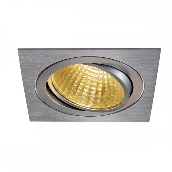 SLV NEW TRIA LED DL SQUARE Set, alu-brushed, 25W, 30°,2700K,inkl. Treiber,Clipf.