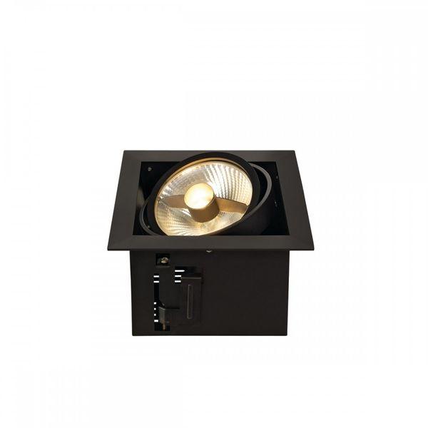 SLV KADUX 1 ES111 Downlight, eckig, mattschwarz, max. 50W