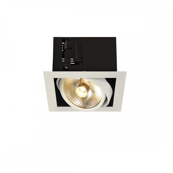 SLV KADUX 1 ES111 Downlight, eckig, mattweiss, max. 50W