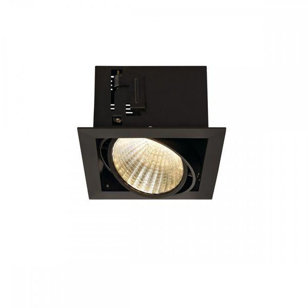 SLV KADUX LED Single DL  Set, mattschwarz, 30°, 3000K, inkl. Treiber