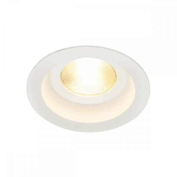 SLV CONTONE Downlight, rund, weiss, 13W LED, warmweiss, IP44