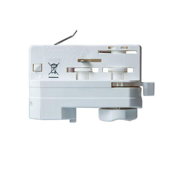 CLE 3-Phasen Stromschienenadapter Adapter weiß mit 5m Kabel und Endhülsen – Bild 3