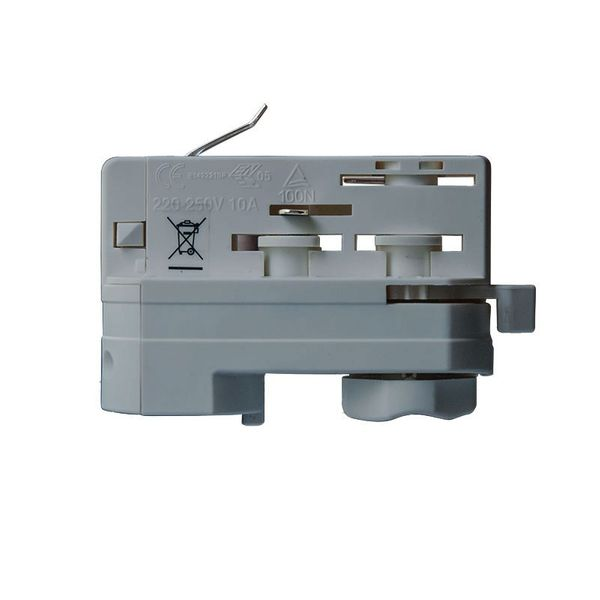 CLE 3 Phasen Stromschienenadapter Adapter grau mit 5m Kabel und Endhülsen Staff Erco SLV Eutrac Hoffmeister Global Adapter – Bild 3