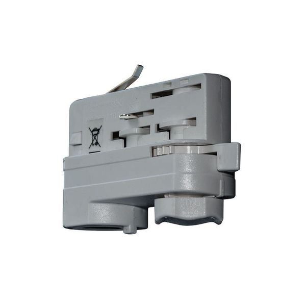 CLE 3 Phasen Stromschienenadapter grau mit 5m Kabel und Endhülsen Staff Erco SLV Eutrac Hoffmeister Global Adapter – Bild 2