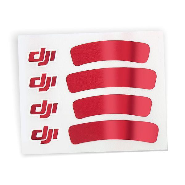 DJI Sticker Aufkleber Rot glänzend für DJI Phantom 3 III  Standard Advanced Professinal