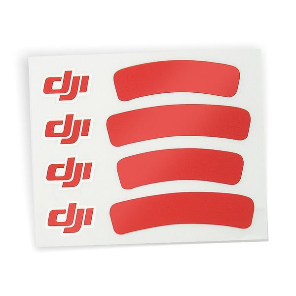 DJI Sticker Aufkleber Rot metallic für DJI Phantom 3 III  Standard Advanced Professinal