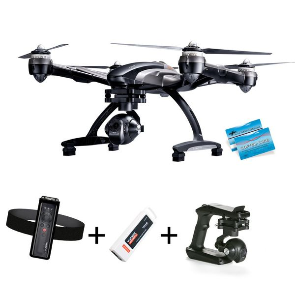 Yuneec Q500 Typhoon W 4K Sport Version Wizard CGO3 Steadygrip Copter-Card