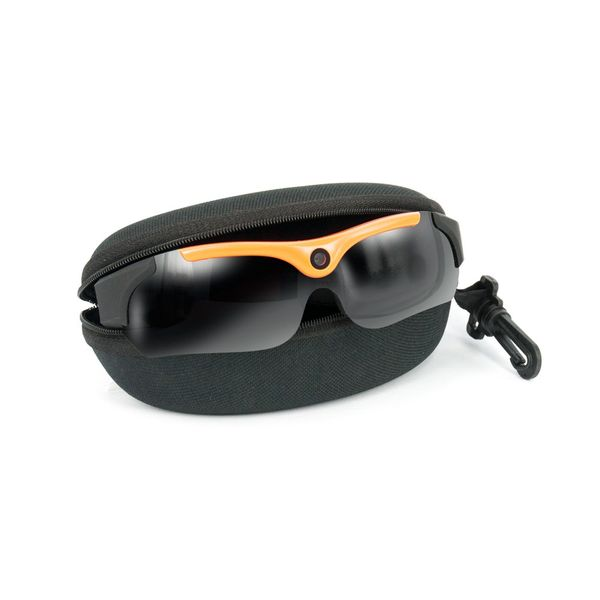 DS24 65H Actioncam Sonnenbrille 3MP 720P HD Videobrille Schwarz-Orange – Bild 4