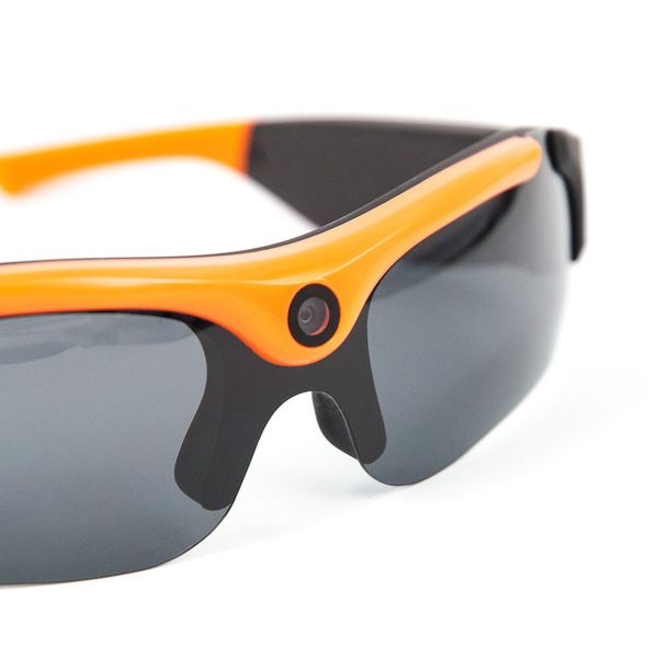 DS24 65H Actioncam Sonnenbrille 3MP 720P HD Videobrille Schwarz-Orange – Bild 2