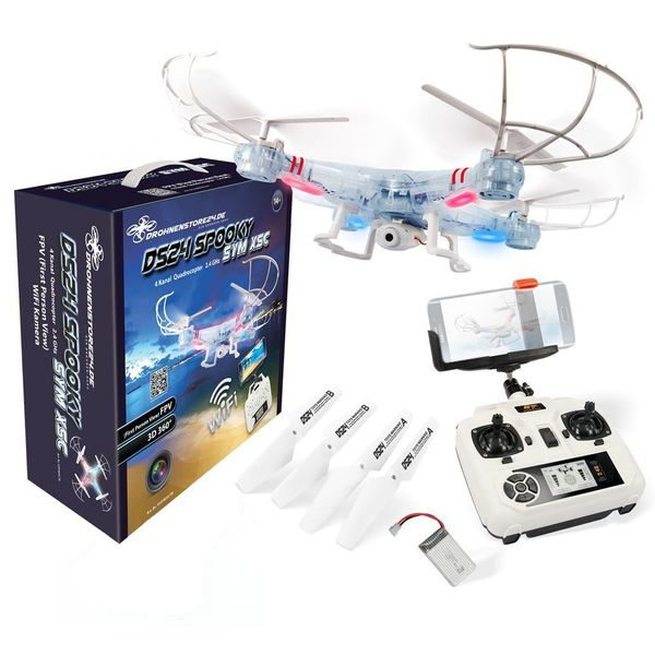 DS24 Spooky SYM X5C Small Business Wifi Quadrocopter Drohne FPV Design Transparent – Bild 1
