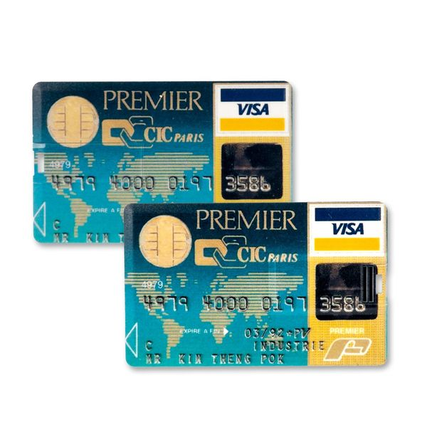 32 GB Speicherkarte in Scheckkartenform Premier Visa Paris Card USB – Bild 2