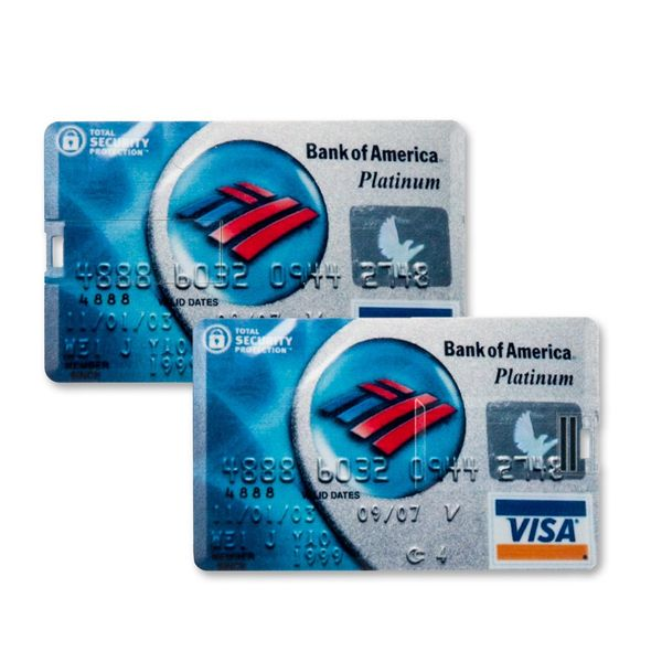 4 GB Speicherkarte in Scheckkartenform Bank of America Platinum Visa Card USB – Bild 2