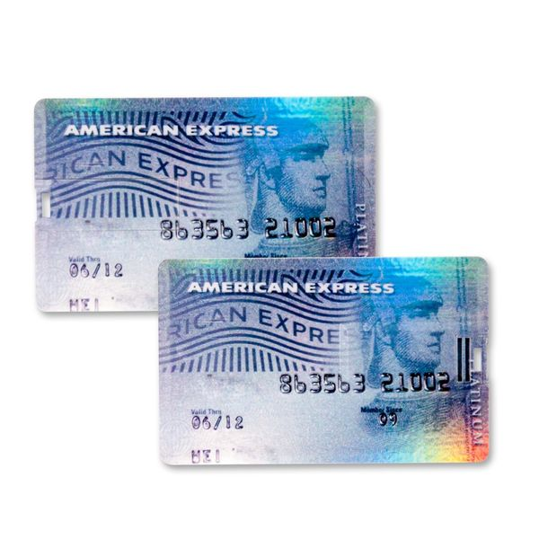 4 GB Speicherkarte in Scheckkartenform American Express Platinum Colour Card USB