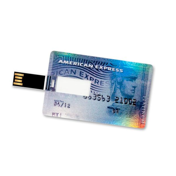 8 GB Speicherkarte in Scheckkartenform American Express Platinum Colour Card USB – Bild 3