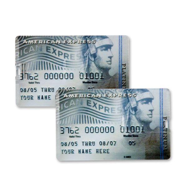 8 GB Speicherkarte in Scheckkartenform American Express Platinum II Card USB – Bild 2