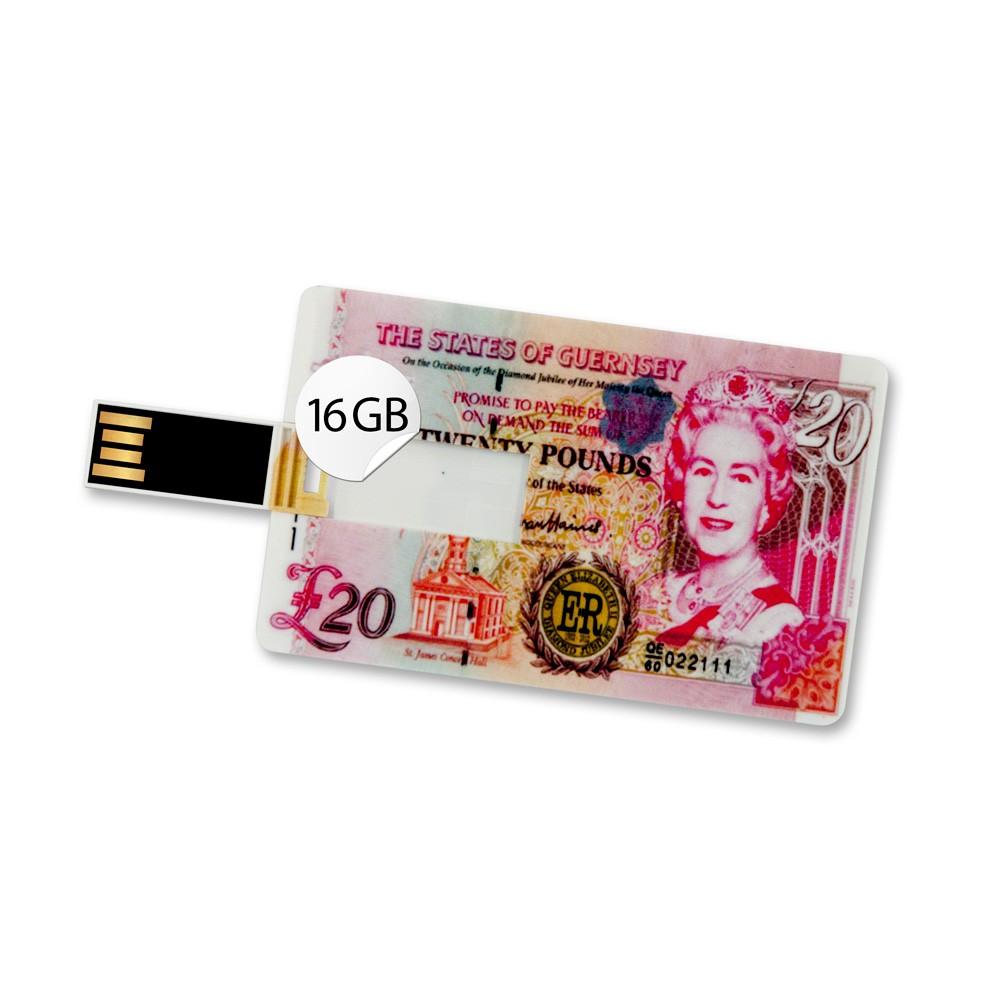 16GB Speicherkarte in Scheckkartenform 20 Pfund USB Stick Datenspeicher