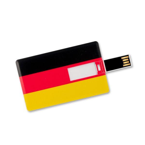 4 GB Speicherkarte in Scheckkartenform, Flagge Deutschland USB Card – Bild 3