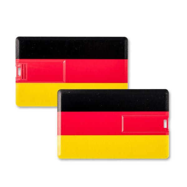 4 GB Speicherkarte in Scheckkartenform, Flagge Deutschland USB Card – Bild 2