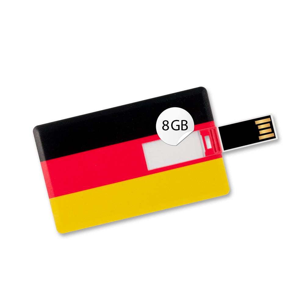 8GB Speicherkarte in Scheckkartenform Flagge Deutschland USB Stick Datenspeicher