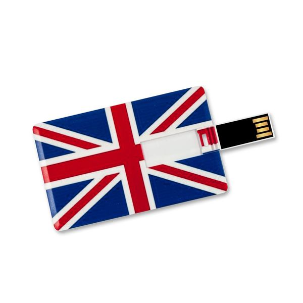 16 GB Speicherkarte in Scheckkartenform, Flagge Großbritannien USB Card – Bild 3