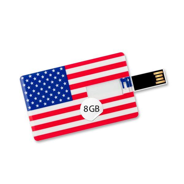 8 GB Speicherkarte in Scheckkartenform, Flagge America USB Card – Bild 1