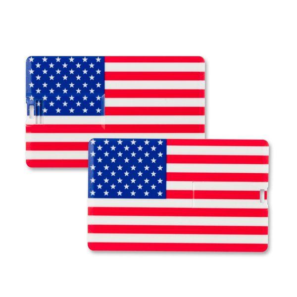 32 GB Speicherkarte in Scheckkartenform, Flagge America USB Card – Bild 2