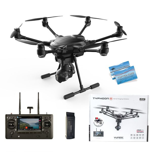Yuneec Typhoon H RTF Advanced 1x Akku 4K CGO3+ ST16 Hinderniserkennung Anti-Collision