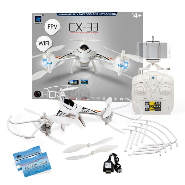 Cheerson CX-33 WiFi Tricopter FPV Höhenstabil 2.4Ghz HD Kamera Copter Card – Bild 1