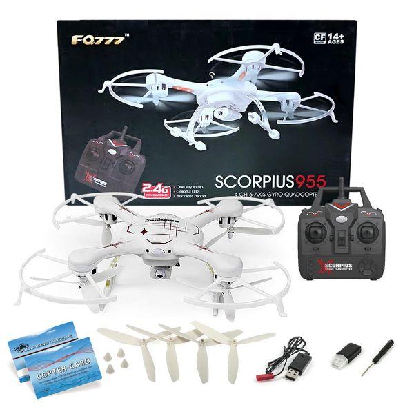 Quadrocopter Scorpius955 FQ777-955 Drohne weiss 2,4Ghz mit 2MP Kamera  – Bild 1