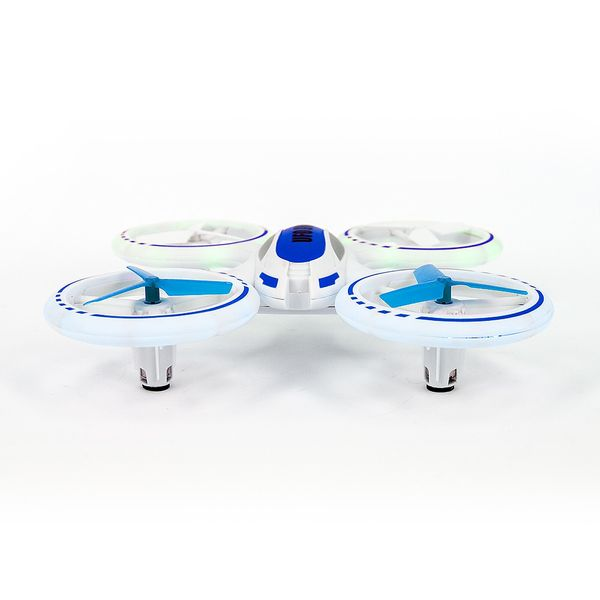 JXD Quadrocopter 398 Funtom 5 weiß blau 2.4GHz LED Lights Copter Card – Bild 3