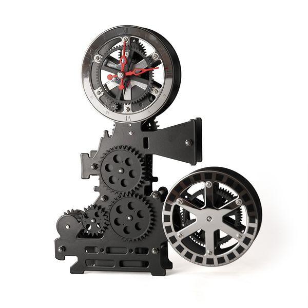 Gagatime Projector Gear Clock, schwarz incl. Batterie Bild 2