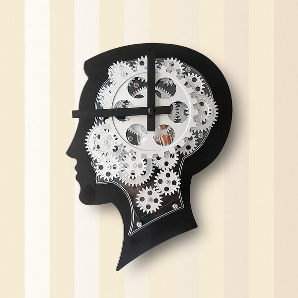 Gagatime Best Brain Gear Wall Clock silber