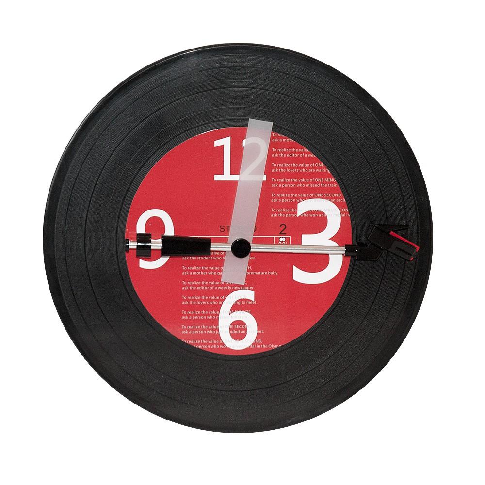 Gagatime Wanduhr Disc I schwarz - Uhr in Schallplatten Optik