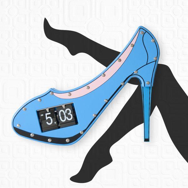 Gagatime Wanduhr High Heels Clock blau, incl. Batterie
