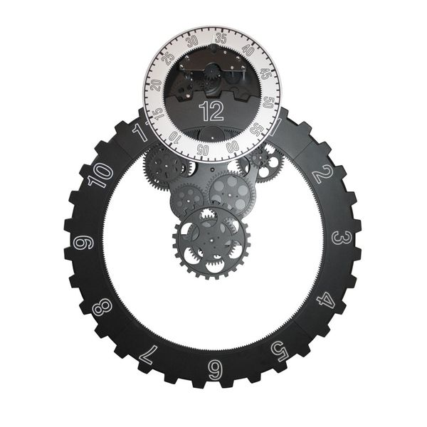 Gagatime No. 03 Gear Ring Wall Clock schwarz