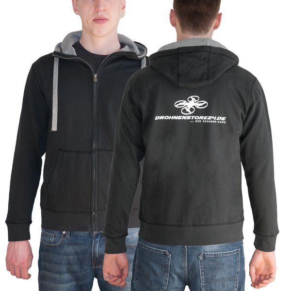 DS24 Drohnenstore24 Männer Sweatshirtjacke schwarz L – Bild 1