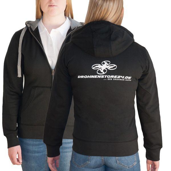 DS24 Drohnenstore24 Damen Sweatshirtjacke schwarz S – Bild 1