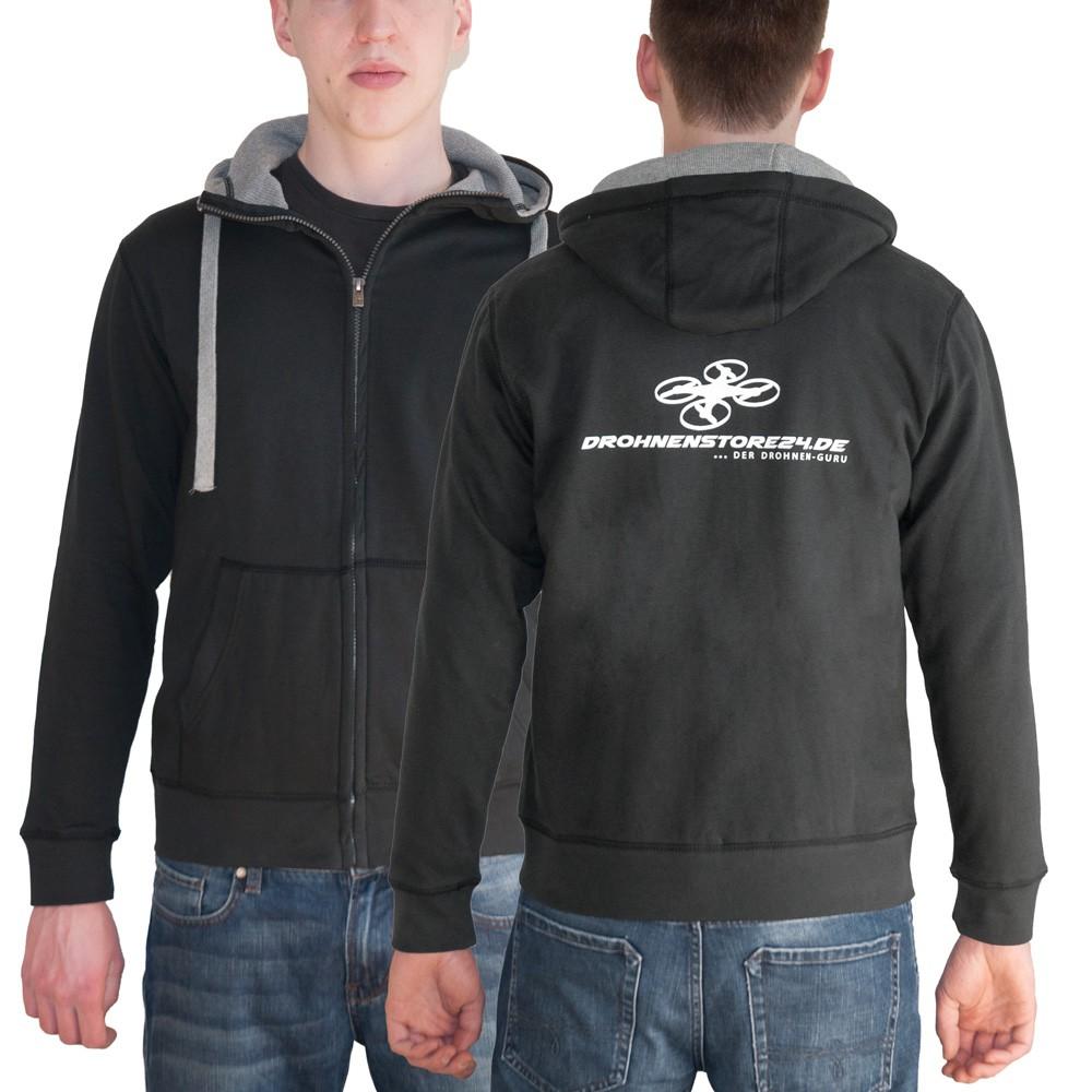 DS24 Drohnenstore24 Männer Sweatshirtjacke schwarz M