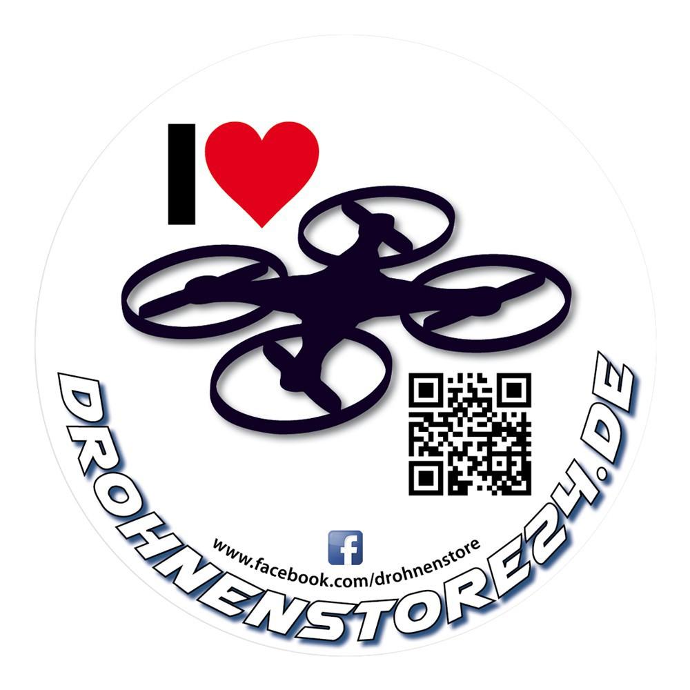 DS24 Bundle mit 3 I LOVE DROHNENSTORE24.de Sticker