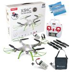 Syma X5HC Travel Pack Quadrocopter weiss Hold Funktion 2MP Kamera 2.4G 4CH 6 Axis RC RTF inkl. Copter Card – Bild 1
