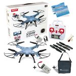 Syma X5HW Travel Pack Quadrocopter blau Hold Funktion WIFI FPV Kamera 2.4G 4CH 6 Axis RC RTF inkl. Copter Card – Bild 1