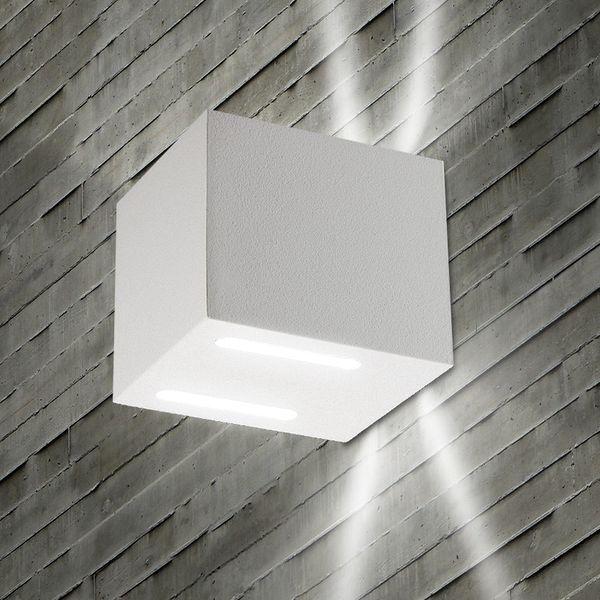 Gaga Lamp Design LED Wandleuchte YK Cube II 90lm sand weiß warmton